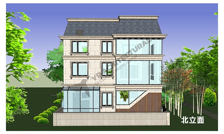 """欧式两层半别墅设计图"""""""