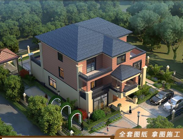 中式海派混搭风格 三层别墅
