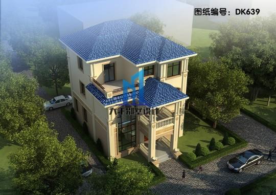 外观高端大气 客厅挑空 三层欧式别墅