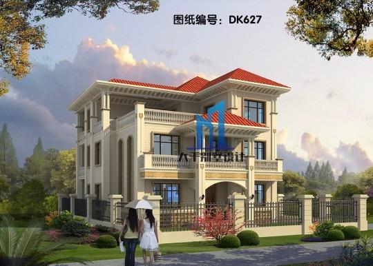造型精致 美觀 三層歐式雙拼別墅