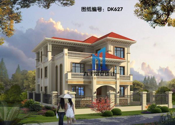 造型精致 美观 三层欧式双拼别墅