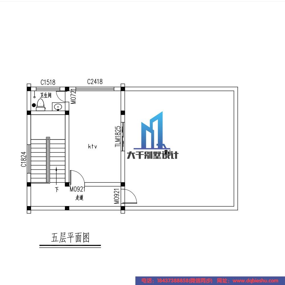 中式五层别墅设计图施工图