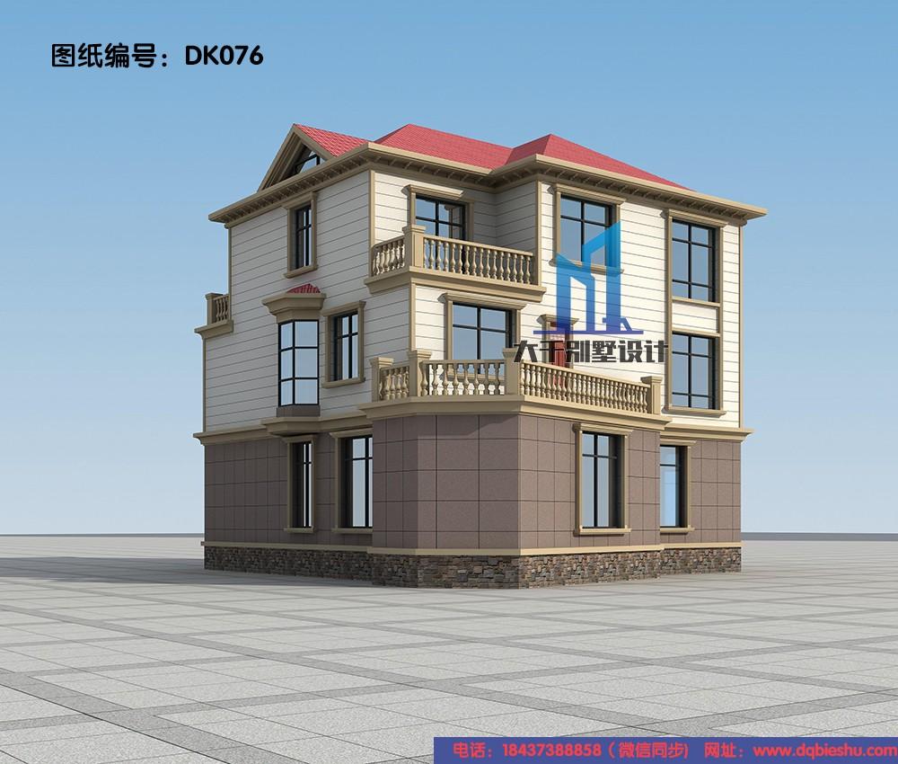 欧式三层别墅设计图效果图