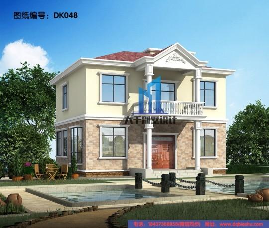 占地11m×11m二层欧式小别墅,经济耐看又实用!