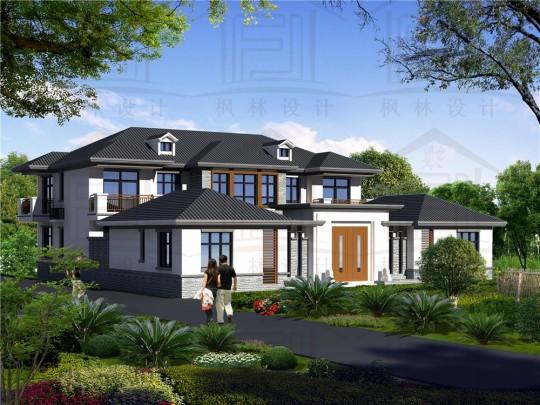 鄉村框架中式庭院別墅