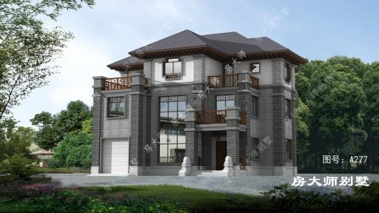 中式三层经济适用别墅