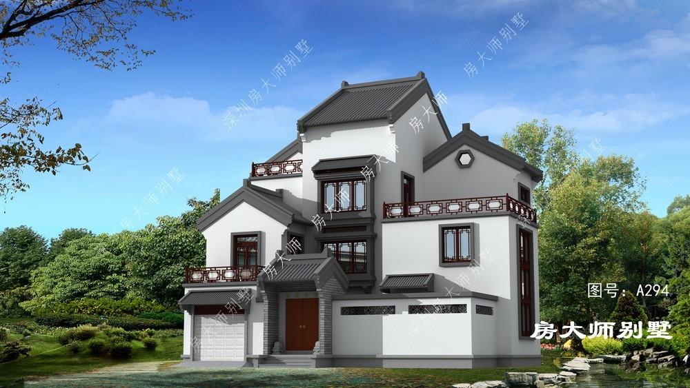 经典传统中式三层别墅