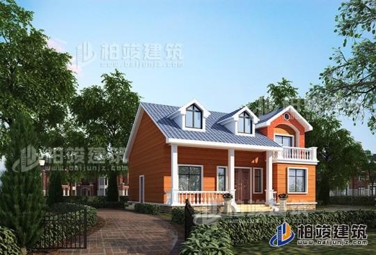 农村一层小别墅设计图和效果图 带阁楼