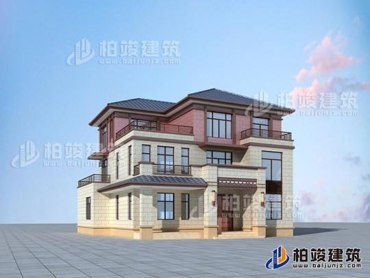 乡村三层房屋设计图自建房占地180平