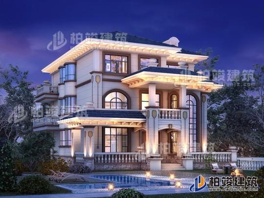 占地150平三层房屋设计图农村电梯房