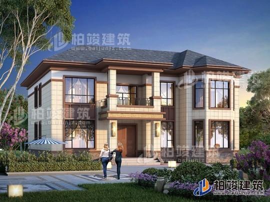 农村二层中式别墅图片大全 新款造价45万