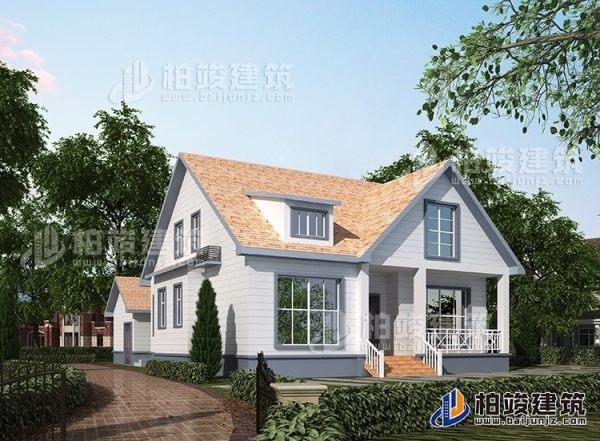 农村二层美式别墅设计图纸带阁楼