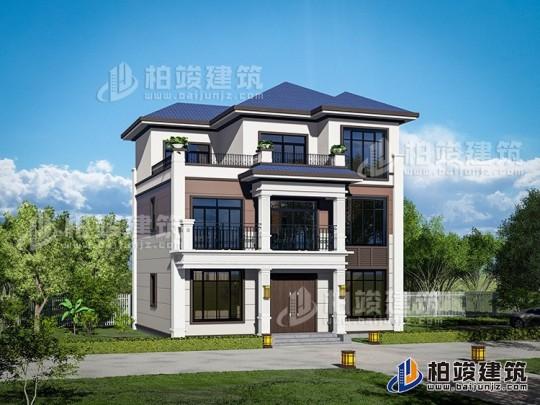 乡下新中式三层房屋设计图纸 造价30万