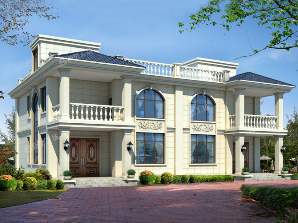 18x14两层框架结构别墅设计图纸