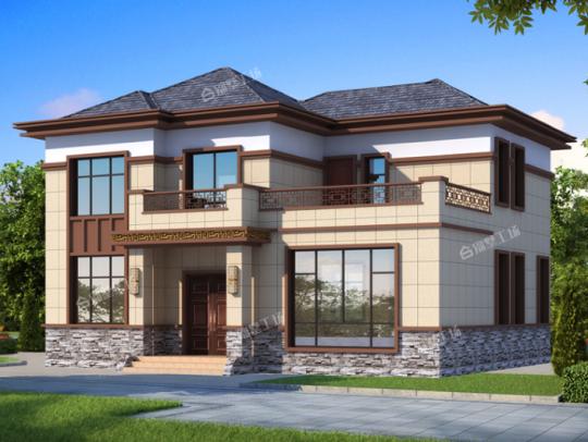 13x12三层中式别墅设计图纸