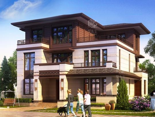獨棟新農村別墅設計圖紙鄉村三層自建房子復式全套施工圖中式風格