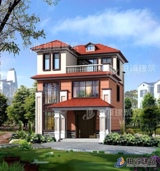 三层小户型别墅设计图纸 带露台 造价20万