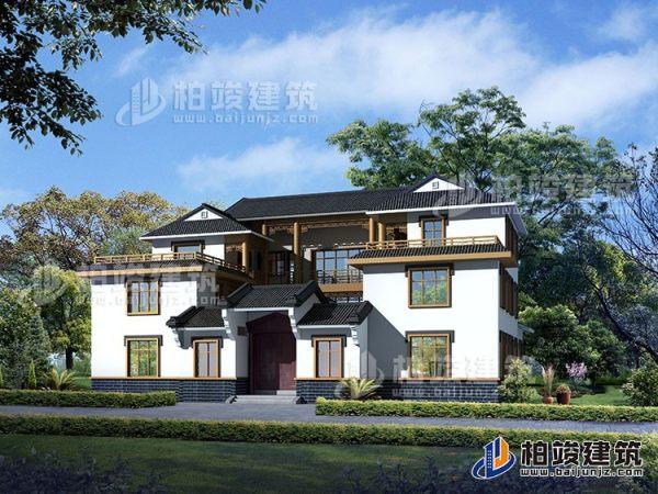 豪华新中式四合院别墅设计图、施工图 造价40万