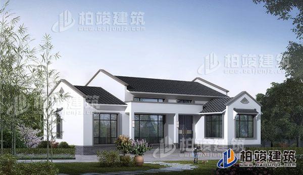 乡村中式一层别墅设计图带阁楼可做仓库用 造价20万
