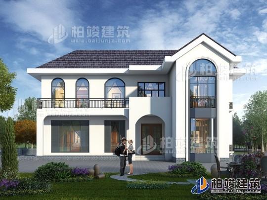 新中式房屋设计图 农村二层别墅