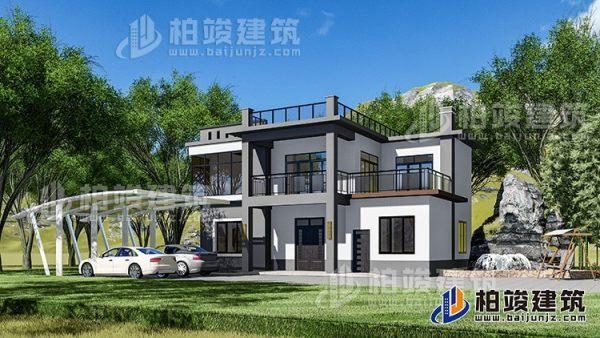 占地13X11二层中式房屋设计,造价27W,谁看了不说好?