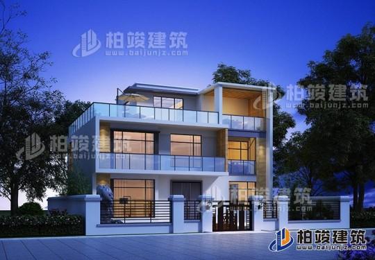 现代别墅设计图纸及效果图大全 二层