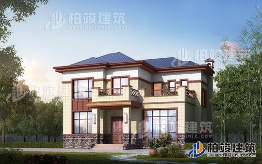 私人二层中式别墅建筑设计图