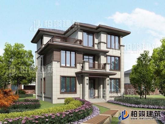 最新款别墅设计外观图,新中式风格,比简欧大气,时尚