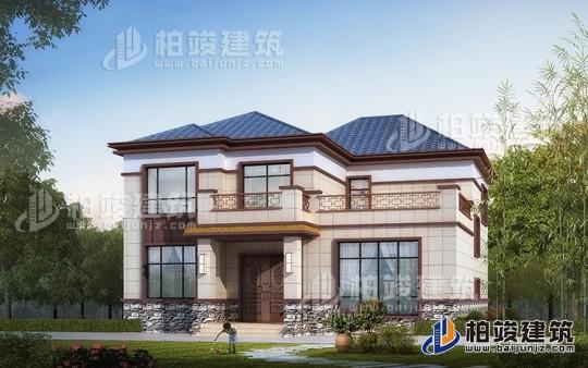 二层中式别墅设计图片大全 12X14米