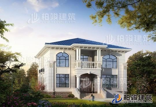漂亮的乡下二层楼房设计图 造价30万