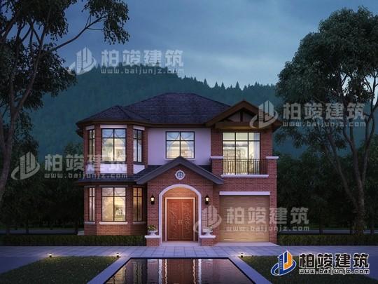 美式别墅设计图纸及效果图 12X11米