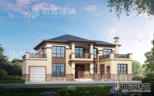 新农村自建二层楼房设计图纸,中式风格外观简单大方