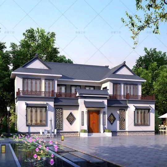 【传统经典型】占地390平 传统中式庭院别墅