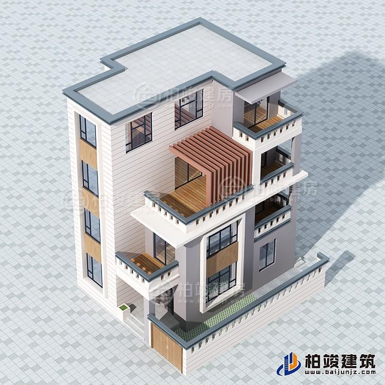 中式四层别墅设计图效果图