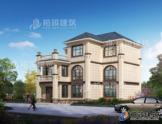 新农村自建三层楼房设计图纸,外观简单大方