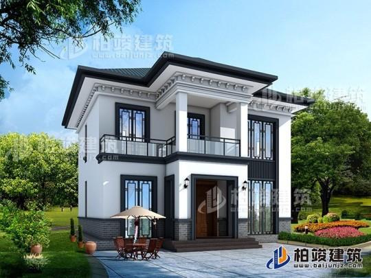 农村二层中式别墅设计施工效果图纸 造价20万