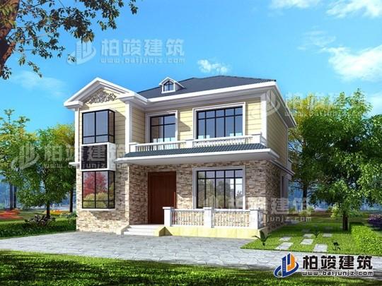 占地11×11二层欧式别墅,经济实用,回乡建房选择这款挺不错