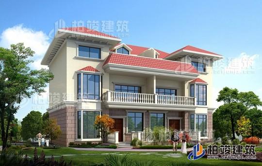 农村三层欧式双拼别墅设计图纸 造价30万