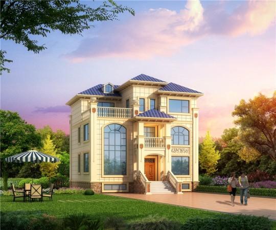 歐式四層(含負一層)簡約實用型鄉村別墅