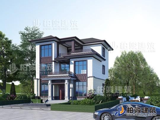 新中式三层简单小别墅设计图纸及效果图