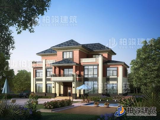 新中式农村自建三层楼房设计图纸,外观简单大方