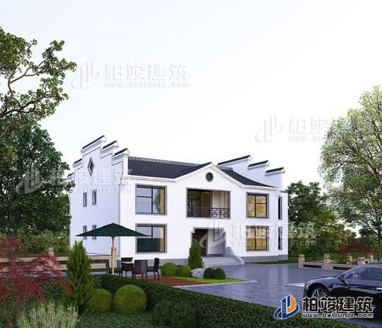 漂亮的中式民宿别墅设计图纸 造价25万