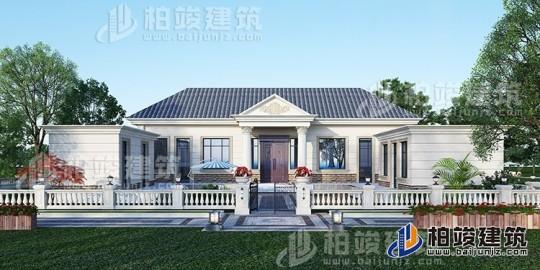 农村盖房设计大全一层房子的设计图纸,带漂亮的小院子