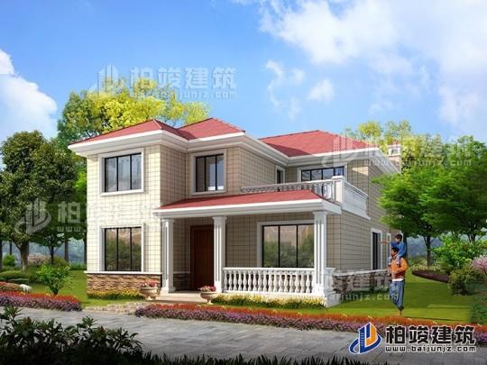 乡村经济型二层自建房屋设计图纸 11X14米