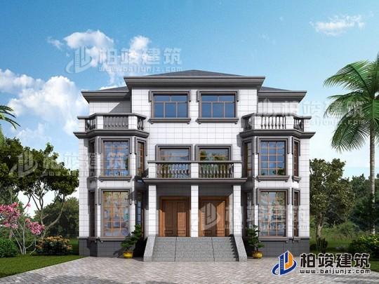 三層雙拼別墅設計圖紙及效果圖 造價40萬