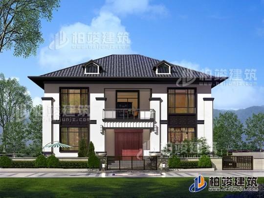 漂亮的两层中式乡村小别墅设计图纸 造价30万