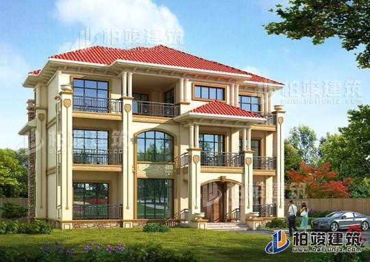 造价40万左右的乡村三层简欧别墅全套设计图纸