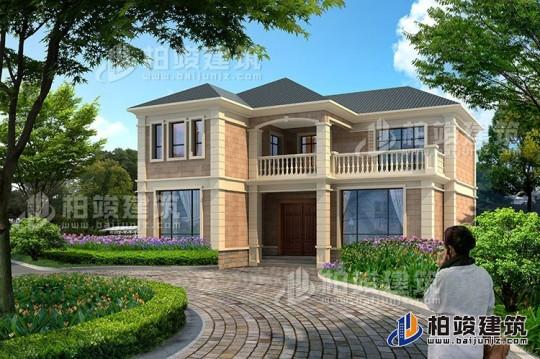 乡村二层简欧式房屋设计图及效果图纸全套