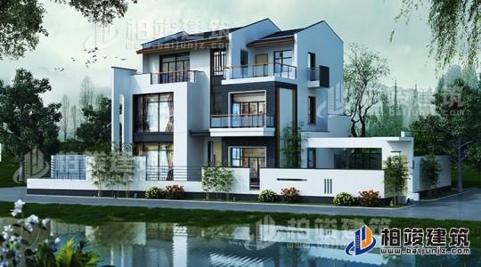乡村三层新中式房屋设计图 造价30万