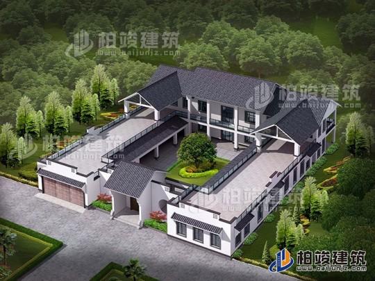 新中式四合院全套设计图纸 自建房别墅设计图